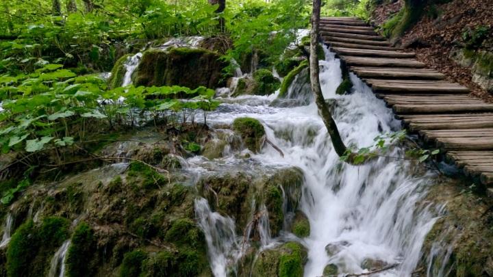 sentiero nel parco dei laghi di plitvice in croazia